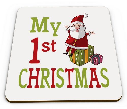 My 1st Christmas Cute Novelty Glossy Mug Coaster